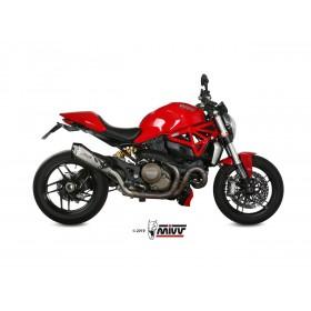 Silencieux MIVV Delta Race inox brossé/casquette carbone Ducati Monster 1200