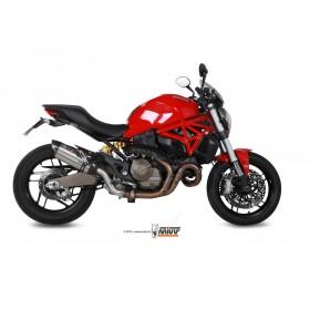 Silencieux MIVV Suono inox brossé/casquette carbone Ducati Monster 821/1200