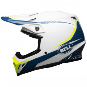 CASQUE BELL MX-9 MIPS GLOSS WHITE/BLUE/Y