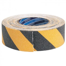 Ruban adhésif sécurité DRAPER noir/jaune 18m