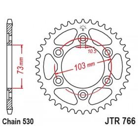 Couronne JT SPROCKETS 43 dents acier standard pas 530 type 766