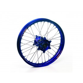 Roue arrière complète HAAN WHEELS 16x1,85x36T jante bleu/moyeu bleu/rayons argent/têtes de rayons argent