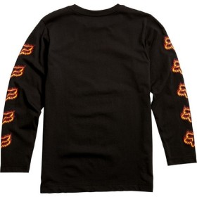YOUTH FLAME HEAD LS TEE [BLK/ORG] YL