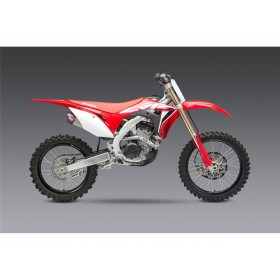 Silencieux double YOSHIMURA RS-9T Signature Series inox/casquette carbone Honda CRF250R