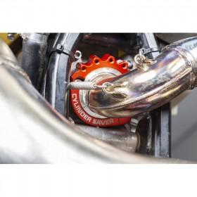 Protection sortie cylindre-échappement S3 bleu KTM/Husqvarna