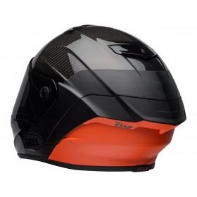 Casque BELL Race Star Flex DLX Carbon Lux Matte/Gloss Black/Orange taille S