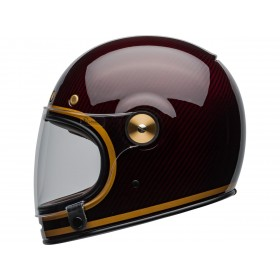 Casque BELL Bullitt Carbon Transcend Gloss Candy Red/Gold taille L
