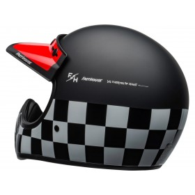Casque BELL Moto-3 Fasthouse Checkers Matte/Gloss Black/White/Red taille L