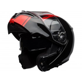Casque BELL SRT Modular Ribbon Gloss Black/Red taille XL