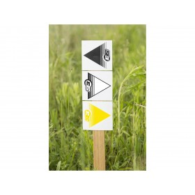 Flèches de signalisation S3 noir 50 pièces 12x12cm