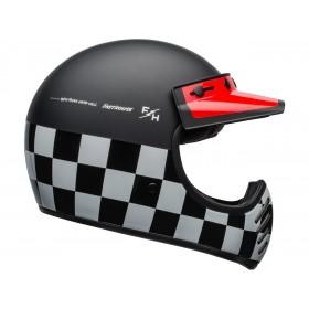 Casque BELL Moto-3 Fasthouse Checkers Matte/Gloss Black/White/Red taille S