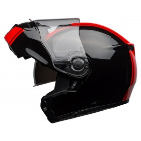 Casque BELL SRT Modular Ribbon Gloss Black/Red taille M
