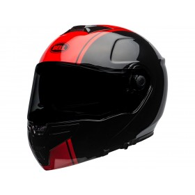 Casque BELL SRT Modular Ribbon Gloss Black/Red taille S