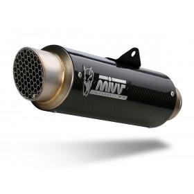 Silencieux MIVV GP Pro carbone/casquette inox Honda CB500F