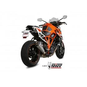 Silencieux MIVV Speed Edge inox/casquette carbone KTM 1290 Superduke