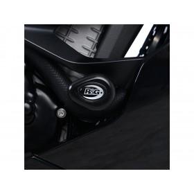 Tampons de protection R&G RACING Aero noir Kawasaki Ninja ZX-6 R ABS