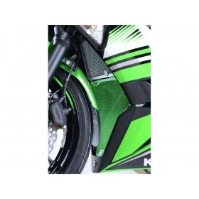 Protection de radiateur R&G RACING alu vert Kawasaki Ninja 650