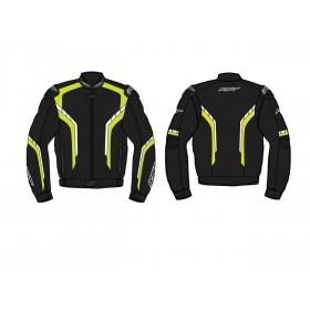 Blouson RST Axis CE cuir noir/jaune fluo taille S homme