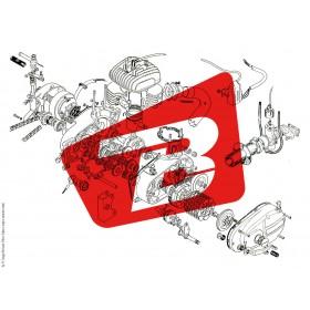 Plaque logo MIVV fond blanc + 2 rivets