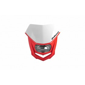 Plaque phare POLISPORT Halo rouge/blanc