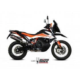 Silencieux MIVV Oval carbone/casquette carbone KTM 790 Adventure