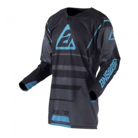 MAILLOT ANSWER ELITE FORCE CHARCOAL/NOIR
