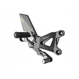 Commandes reculées réglables/repliables LIGHTECH sélection standard et inversée noir Yamaha R6