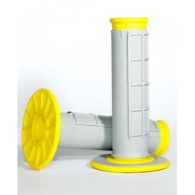 Revêtements Renthal Dual Grip gris/jaune