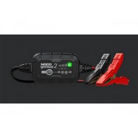 Chargeur de batterie NOCO Genius2 6/12V 2A montage avec pinces