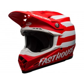 Casque BELL Moto-9 Mips Signia Matte Red/White taille XL