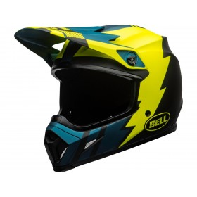 Casque BELL MX-9 Mips Strike Matte Blue/Yellow taille XL
