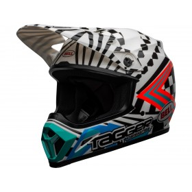 Casque BELL MX-9 Mips Check Me Out Gloss Black/White taille XL