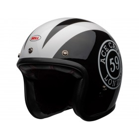 Casque BELL Custom 500 DLX Ace Cafe 59 Gloss Black/White taille XL