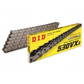 Chaine de tranmission D.I.D 530 VX3 noir/noir 100 maillons
