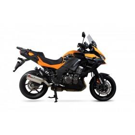 Silencieux SCORPION Serket Parallel inox/casquette ABS noir Kawasaki Versys 1000