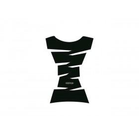 Protection de réservoir OXFORD Jagged Vinyl noir