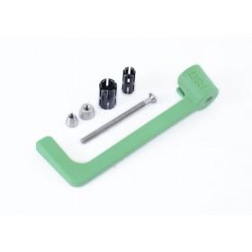 Protection de levier R&G RACING nylon vert