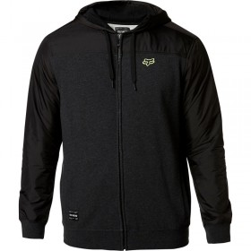 PIVOT ZIP FLEECE (HTR BLK)