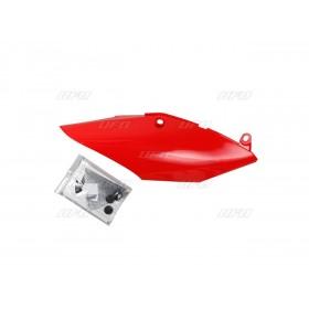 Plaques latérales mono-silencieux UFO rouge Honda