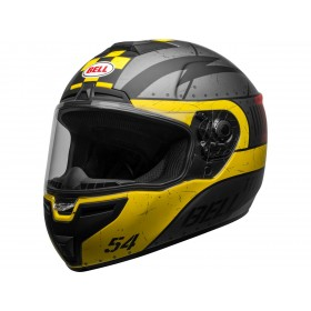 Casque BELL SRT Devil May Care Matte Gray/Yellow/Red taille L