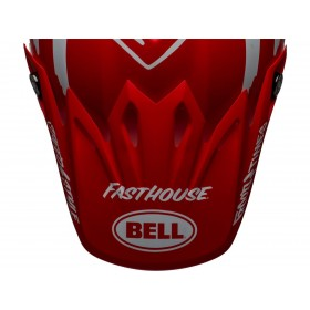 Visière BELL Moto-9 MIPS® Fasthouse Signia Matte Red/White