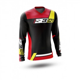 Maillot S3 Collection 01 noir/rouge taille S