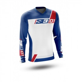 Maillot S3 Collection 01 Patriot rouge/bleu taille M