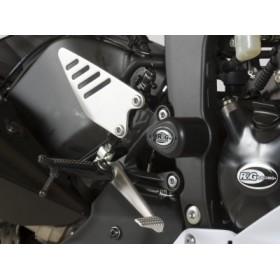 Tampons de protection R&G RACING Aero blanc Kawasaki ZX6R 636
