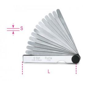 Jauges d'épaisseur métrique BETA 0,05 - 1mm 20 lames