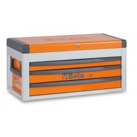 Coffre à trois tiroirs BETA orange