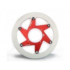 Disque de frein BERINGER H15LGRF Aeronal® fonte rond flottant rouge