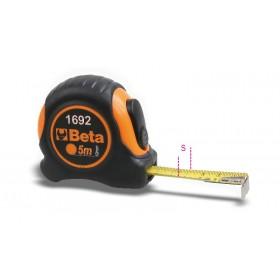 Mètre à ruban BETA 5m boîtier ABS antichoc bi-matières ruban acier classe de précision II