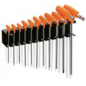 Jeu de 11 clés mâles 6 pans en T BETA avec support