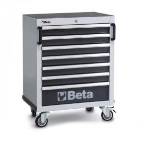 Servante mobile d'atelier à sept tiroirs BETA grise